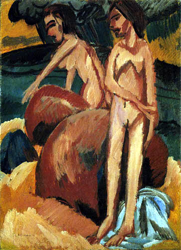 Ernst Ludwig Kirchner - Bathers by the Sea, Fehmarn