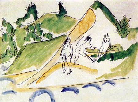 Ernst Ludwig Kirchner - Badende am Moritzburger See