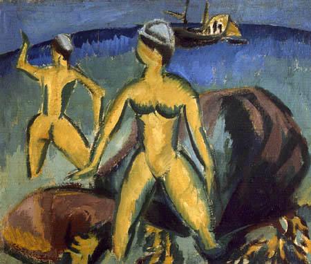 Ernst Ludwig Kirchner - Badende, Fehmarn