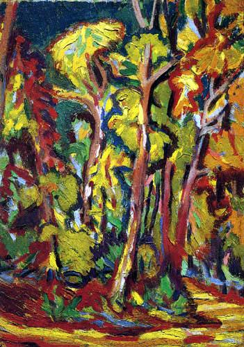 Ernst Ludwig Kirchner - Bäume im Herbst