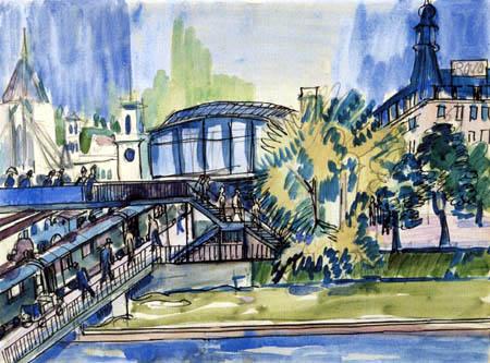 Ernst Ludwig Kirchner - Bahnhof am Kanal, Zürich