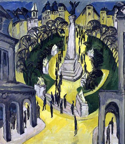 Ernst Ludwig Kirchner - Belle-Alliance-Platz in Berlin