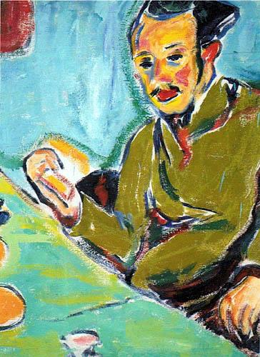 Ernst Ludwig Kirchner - Portrait of Erich Heckel