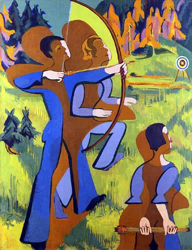 Ernst Ludwig Kirchner - Archers