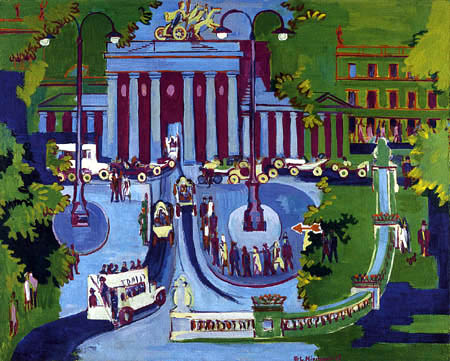 Ernst Ludwig Kirchner - The Brandenburg Gate, Berlin
