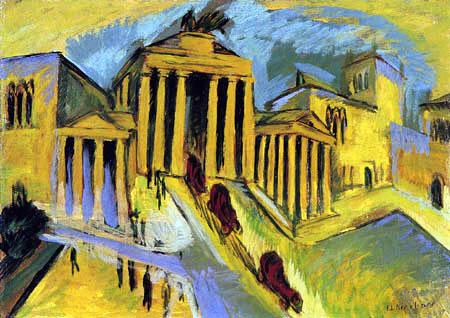 Ernst Ludwig Kirchner - Brandenburg Gate, Berlin