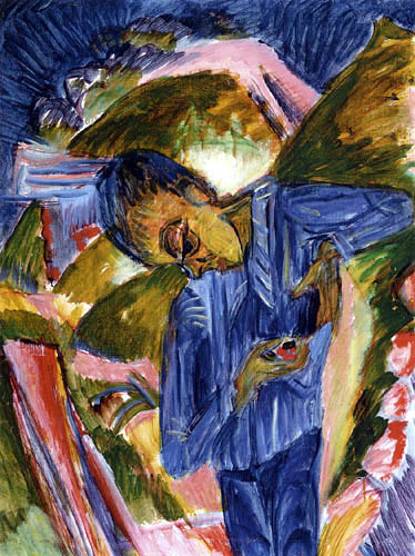 Ernst Ludwig Kirchner - A boy with sweets