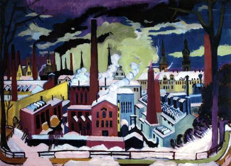 Ernst Ludwig Kirchner - Chemnitz Factories