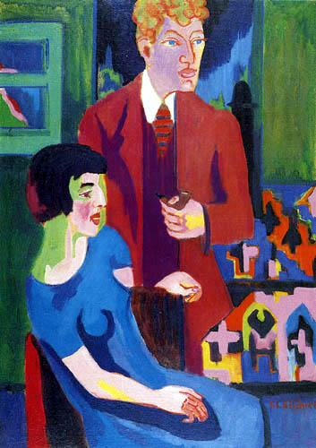 Ernst Ludwig Kirchner -  The pair Albert Müller