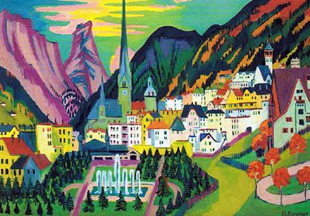 Ernst Ludwig Kirchner - Davos in Summer