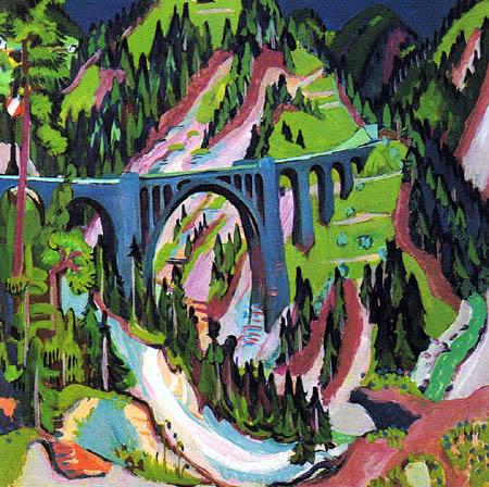 Ernst Ludwig Kirchner - The bridge near Wiesen