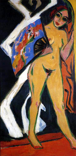 Ernst Ludwig Kirchner - Dodo mit grossem Fächer