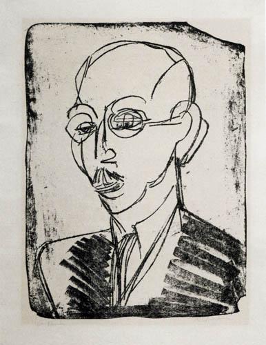Ernst Ludwig Kirchner - Portrait du Dr Hagemann