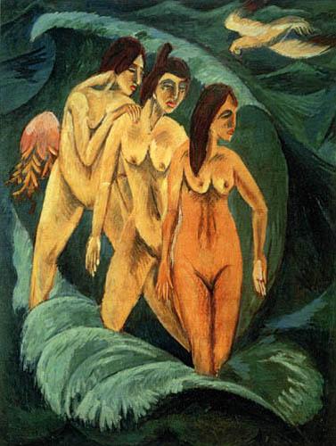 Ernst Ludwig Kirchner - Drei Badende, Fehmarn
