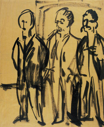 Ernst Ludwig Kirchner - Three men