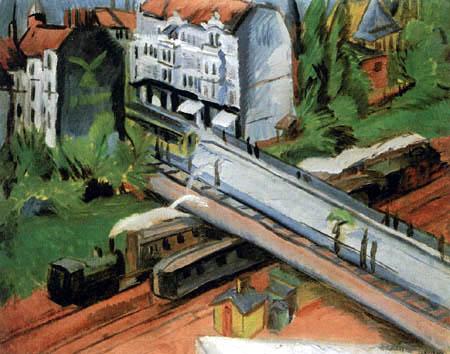 Ernst Ludwig Kirchner - Eisenbahnüberführung