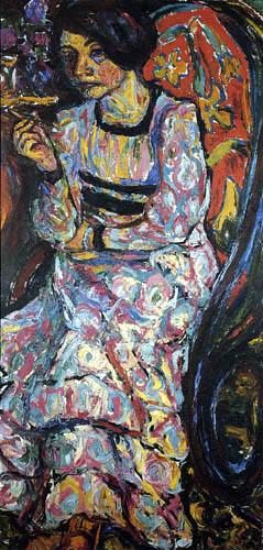 Ernst Ludwig Kirchner - Emmy Frisch im Schaukelstuhl