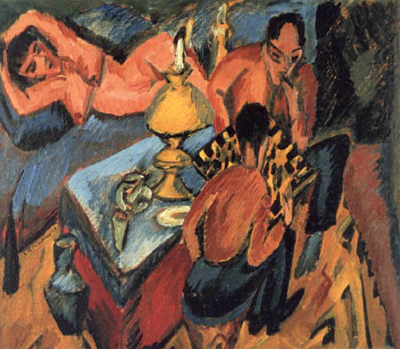 Ernst Ludwig Kirchner - Erich Heckel, and Otto Mueller in chess