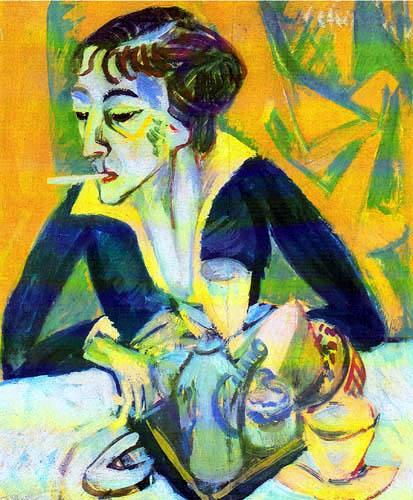 Ernst Ludwig Kirchner - Erna with Cigarette