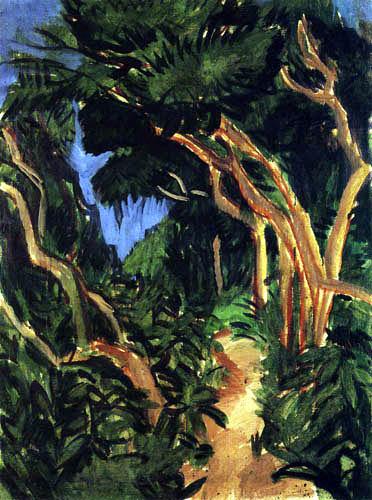 Ernst Ludwig Kirchner - Waldweg auf Fehmarn
