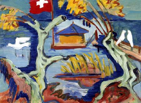 Ernst Ludwig Kirchner - Fisherman's Cottage on Lake Constance