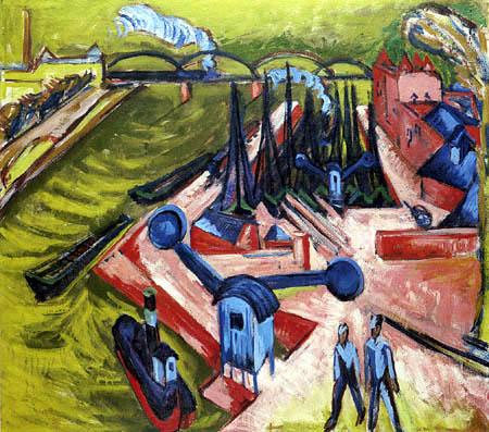 Ernst Ludwig Kirchner - Frankfurter Westhafen