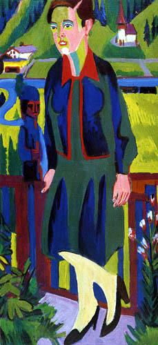 Ernst Ludwig Kirchner - Die Frau von Albert Müller vor Bergtal