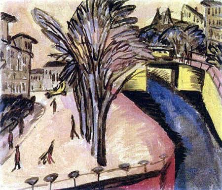 Ernst Ludwig Kirchner - Gelbes Engelufer, Berlin