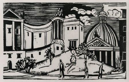 Ernst Ludwig Kirchner - Die Hedwigskirche in Berlin