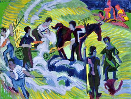 Ernst Ludwig Kirchner - The hay harvest