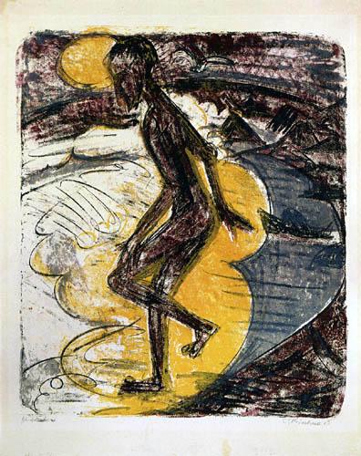 Ernst Ludwig Kirchner - Homme baigneuse, Fehmarn