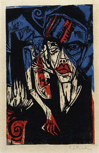 Ernst Ludwig Kirchner - Struggles, Agonies of Love III