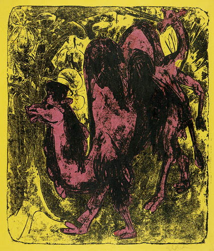 Ernst Ludwig Kirchner - Camel and dromedary