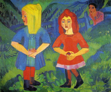 Ernst Ludwig Kirchner - Children on the Alps