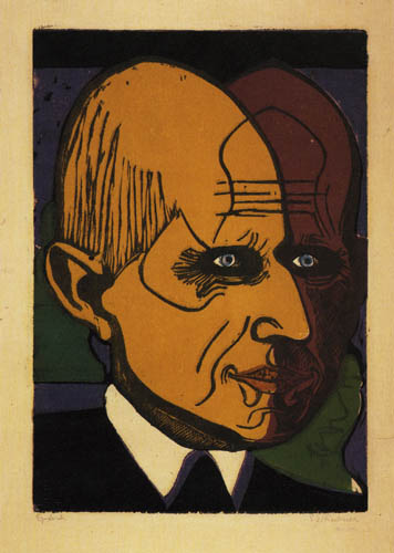 Ernst Ludwig Kirchner - Portrait of Dr Bauer