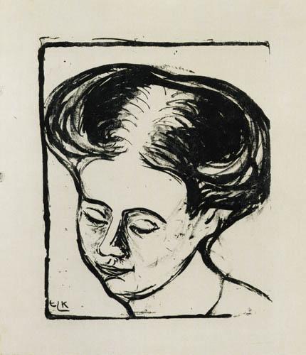 Ernst Ludwig Kirchner - Portrait d' Emmy Frisch