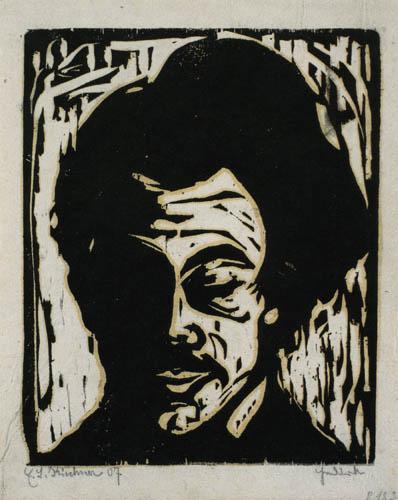 Ernst Ludwig Kirchner - Kopf Hans Frisch