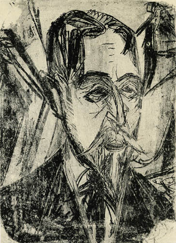 Ernst Ludwig Kirchner - Kopf Professor Botho Graef