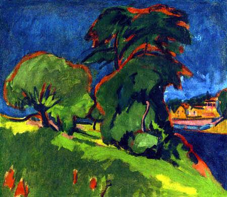 Ernst Ludwig Kirchner - Landschaft bei Moritzburg