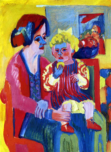 Ernst Ludwig Kirchner - Woman with girl