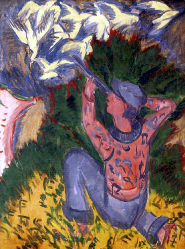 Ernst Ludwig Kirchner - Gulls hunters in the woods