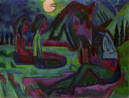 Ernst Ludwig Kirchner - The moon night