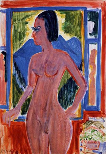 Ernst Ludwig Kirchner - Nackte Frau am Fenster