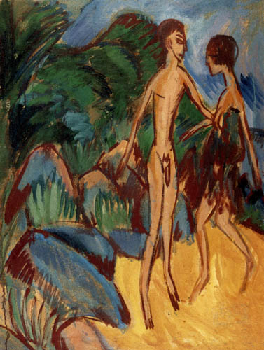 Ernst Ludwig Kirchner - Boy and girl on the beach