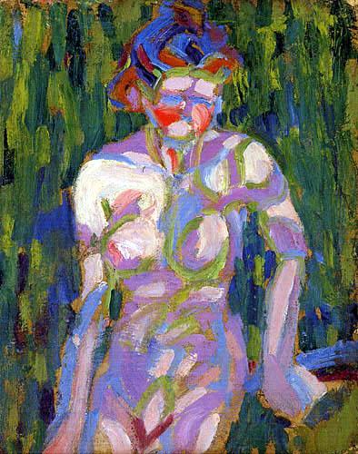 Ernst Ludwig Kirchner - Nacktes Mädchen mit Zweigschatten