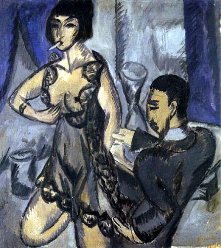 Ernst Ludwig Kirchner - Ein Paar im Zimmer