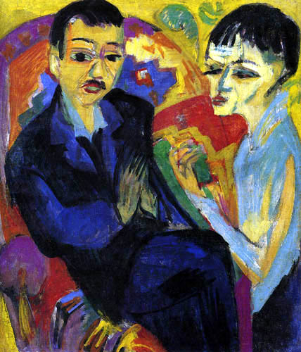 Ernst Ludwig Kirchner - Seated Couple
