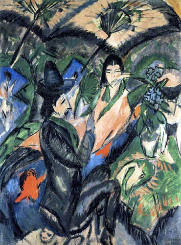 Ernst Ludwig Kirchner - A Couple under the umbrella Japan