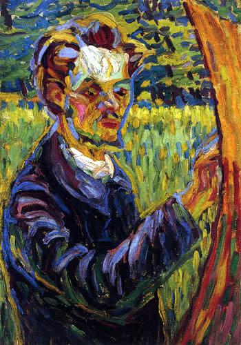 Ernst Ludwig Kirchner - Porträt des Malers Erich Heckel