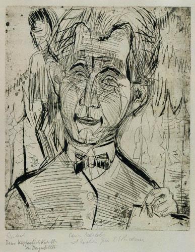 Ernst Ludwig Kirchner - Portrait of Dr. Redslob